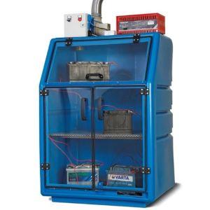 Dulap incarcare baterii litiu din PE culoarea albastra