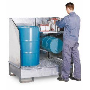 Depozit substanțe periculoase 2 GST-K din oțel zincat pentru 2 butoaie de 200 litrii
