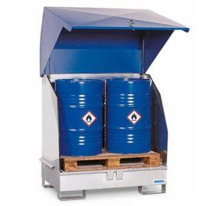 Depozit substanțe periculoase 2 GST-KS oțel zincat pentru 2 butoaie de 200 litrii