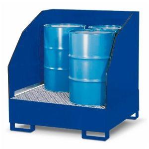Depozit substante periculoase 4 GST-K din oțel vopsit pentru 4 butoaie de 200 litrii