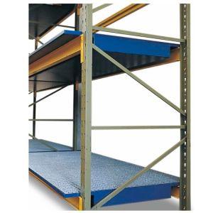 Vana retentie raft SRW 18.8 din otel zincat cu grilaj zincat pentru rafturi cu lățime de 1800 mm