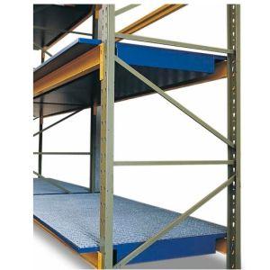 Vana retentie raft SRW 18.11 din oțel vopsit cu  grilaj zincat pentru rafturi cu lățime de 1800 mm