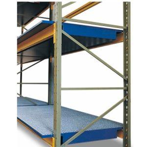 Vana retentie raft SRW 26.11 din oțel vopsit cu grilaj zincat, pentru rafturi cu lățime de 2600 mm