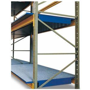 Vana retentie raft SRW 27.8, din oțel vopsit cu grilaj zincat pentru rafturi cu lățime de 2700 mm