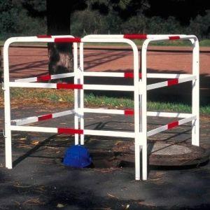 Gard protectie mobil alb/rosu 1000x1000x900mm