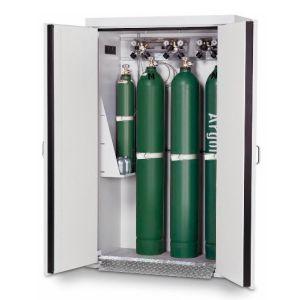 Dulap de butelii rezistent la foc tip G30.14 usa cu 2 canate, gri