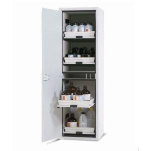 Dulap de depozitare acizi si baze SL 604 gri cu deschidere usa spre stanga