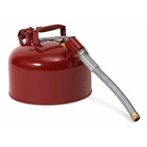 Recipient otel furtun metalic, 8 l, rosu