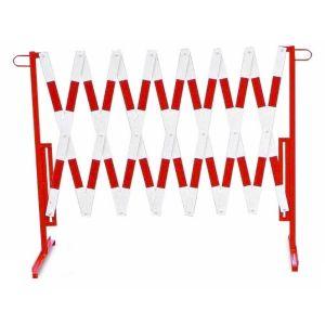 Gard protectie flexibil alb/rosu 3600x1000mm