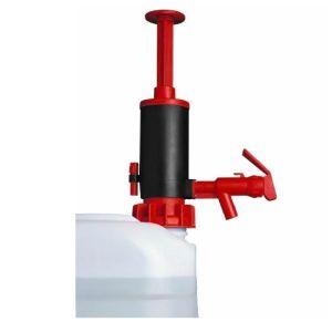 Pompa manuala, cu garnitura EPDM, rosu