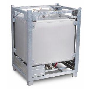 Container IBC inox cu cadru 1000 litri