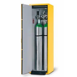 Dulap de butelii rezistent la foc tip G30.6 deschiderea usii spre stanga, galben
