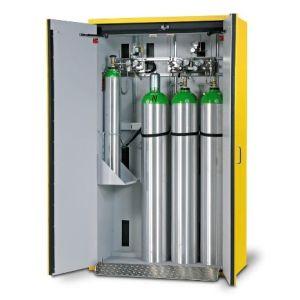 Dulap de butelii rezistent la foc tip G30.12 usa cu 2 canate, galben