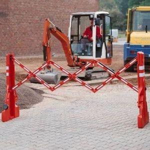 Gard protectie flexibil alb/rosu 2300x1060mm