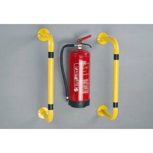 Bara de protectie anticoliziune pentru montarea pe perete sau de podea 350 x 300 mm, galben