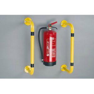 Bara de protectie anticoliziune pentru montarea pe perete sau de podea 750 x 300 mm, galben
