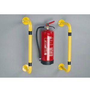 Bara de protectie anticoliziune pentru montarea pe perete sau de podea 1000 x 300 mm, galben
