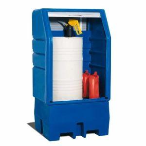 Depozit PolySafe-Depot PSR 8.8 pentru 1 butoi de 200 litrii cu grilaj zincat si jaluza