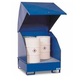 Depozit substanțe periculoase 4 GST-KS-V50 oțel vopsit pentru 4 butoaie de 200 litrii