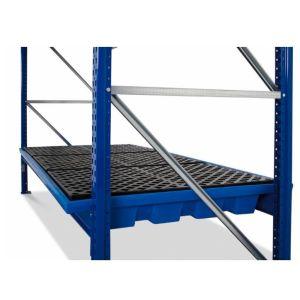 Vana retentie raft KRW 27.11 din polietilena (PE) cu grilaj din PE  pentru rafturi cu lățime de  2700 mm