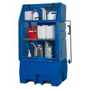 Depozit PolySafe-Depot PSR 8.8 pentru 1 butoi de 200 litrii cu grilaj zincat