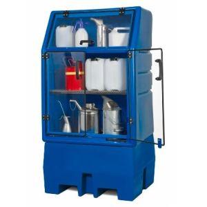 Depozit PolySafe-Depot PSR 8.8 pentru 1 butoi de 200 litrii cu grilaj din polietilenă (PE)