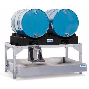 Statie de umplere  AS-P din otel zincat cu palet de butoi din PE, pentru 2 butoaie de 200 litri