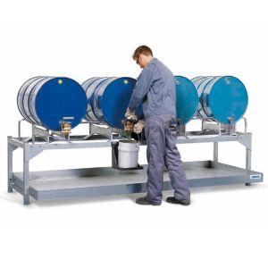 Statie de umplere AS-P V50 otel zincat cu 2 rame zincate pentru 4 butoaie de 200 litri