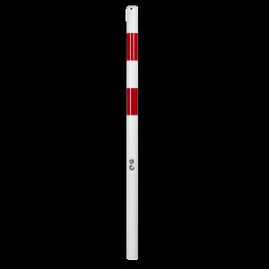 Stalp protectie fixare beton alb/rosu 60mm