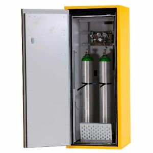 Dulap de butelii rezistent la foc tip G90.6-10 deschiderea usii spre dreapta, galben