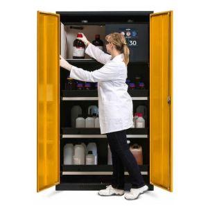 Dulap de depozitare substante chimice multifunctional Systema-Plus-T galben