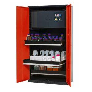 Dulap de depozitare substante chimice multifunctional Systema-Plus-T CS-30 rosu