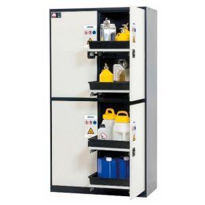 Dulap de depozitare substante periculoase multifunctional Quadro 124-8 alb