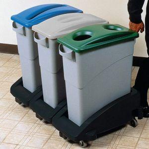 Carucior din PE pentru cos deseuri 60-90 litri