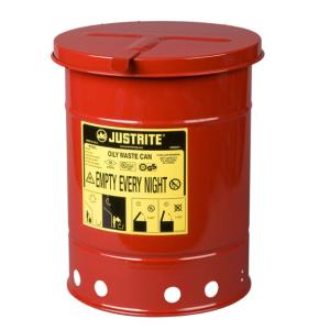 Recipient antifoc colectare lavete uleioase rosu 23 litri fara pedala