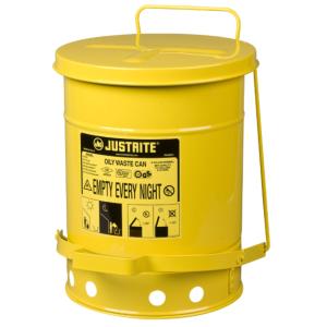 Recipient antifoc colectare lavete uleioase galben 23 litri