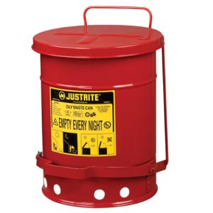 Recipient antifoc colectare lavete uleioase rosu 23 litri