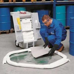 Set urgenta hidrocarburi in cutie de transport cu roti