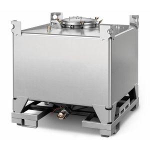Container IBC inox fara cadru 1000 litri