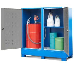 Dulap 1 butoi 200 litri si recipiente mici Securo SC-2 cu 1 raft