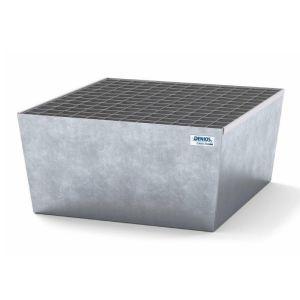 Cuva retentie classic-line din otel zincat cu grilaj zincat pentru 1 butoi de 200 litri