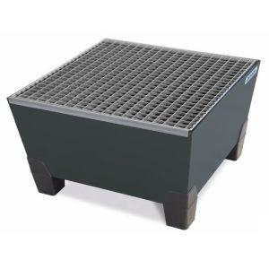 Cuva retentie pro-line din otel vopsit cu grilaj zincat pentru 1 butoi de 200 litri