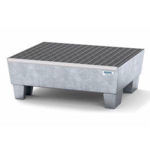 Cuva retentie Classic-Line, otel zincat, cu grilaj, cu picioare, 2 butoaie 60 l