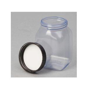Flacon patrat cu gat larg PVC 200 ml