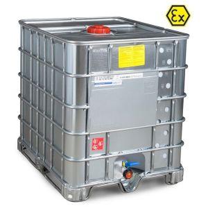 Container ATEX tip IBC-UN palet otel 1000 litri Ø 150