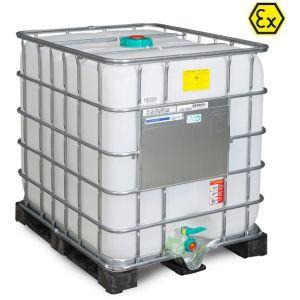 Container ATEX tip IBC-UN palet PE 1000 litri Ø 150