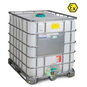 Container ATEX tip IBC-UN palet cadru 1000 litri Ø 150