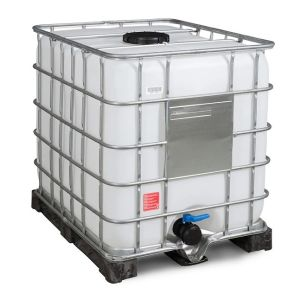 Container IBC reconditionat palet PE 1000 litri Ø 225
