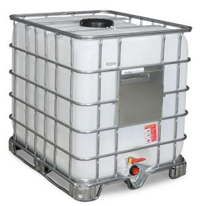 Container IBC reconditionat palet cadru 1000 litri Ø 225
