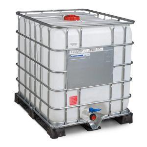 Container IBC-UN reconditionat cu palet PE 1000 litri Ø 150